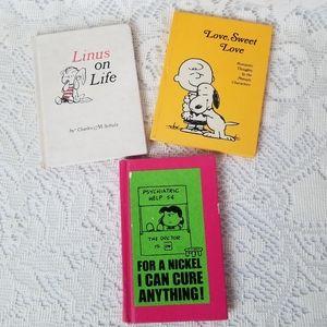 70s Charles Shultz Peanuts 3 Book Lot Hallmark